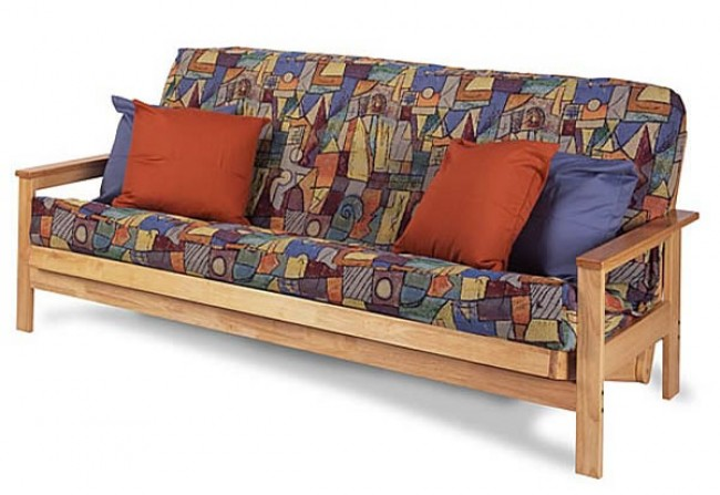 Junior: Comm Ave futon with Triple Double matt