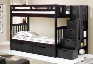 Norwood Bunk with Staircase espresso